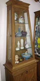 CURIO CABINET - SOLID WOOD in Chicago, Illinois