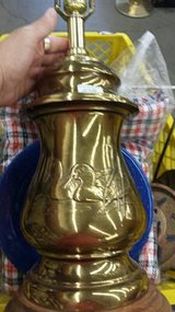 Large Lamp vintage Regency brass ginger jar ducks relief in Travis AFB, California