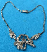 Vintage 30s Necklace with Rhinestones Choker Length Unusual Design Ready to Wear in Houston, Texas