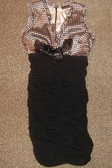 MIEKO MELLUCCI * Womens sz SMALL S sexy black & white party Dress in Schaumburg, Illinois