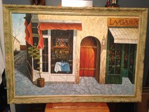 """Oil Painting """"Bistro""""Signed """"Tyler"""" in Camp Lejeune, North Carolina"""