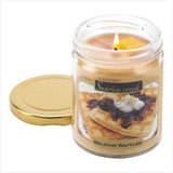 45-hrs Soy Scented Lidded Jar Candle ~ Belgium Waffles ~ New in Fort Lewis, Washington