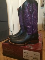 6 1/2 Purple Lucchese cowboy boots in Okinawa, Japan