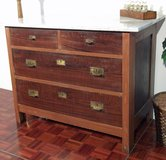 Antique Dresser made of Dark Wood in Ramstein, Germany