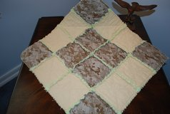 USMC MARPAT Desert Cammy Lovie Baby Rag Quilt in Cherry Point, North Carolina