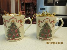 Lenox Vintage 2001 Fine Porcelain:  Delicate Pair Of Coffee/Tea Mugs in Houston, Texas