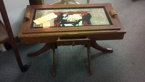 Antique siloutte coffee table at DOWNTOWN TREASURES in Fort Leonard Wood, Missouri